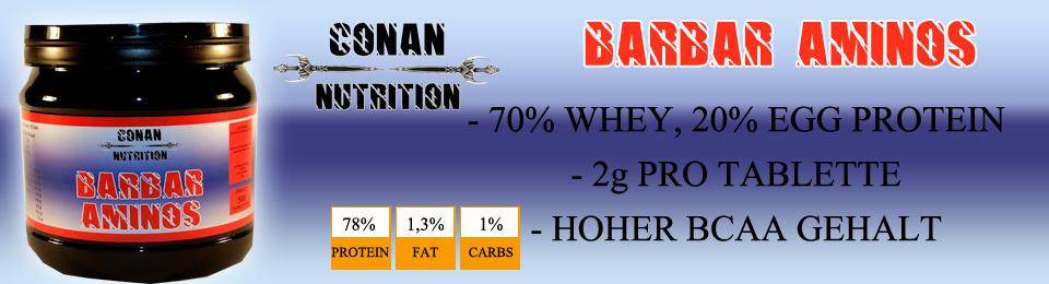Conan Nutrition barbar Aminos