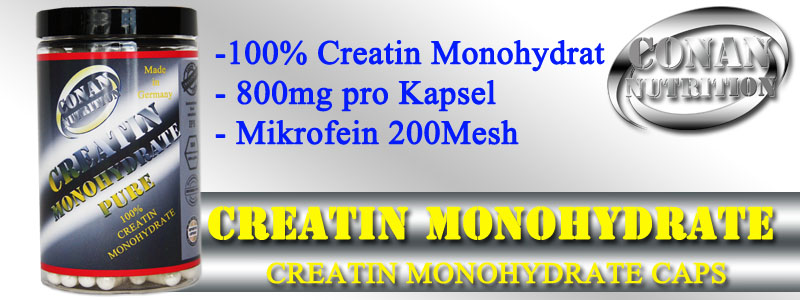 Conan Nutrition CREATIN MONOHYDRATE PURE Banner