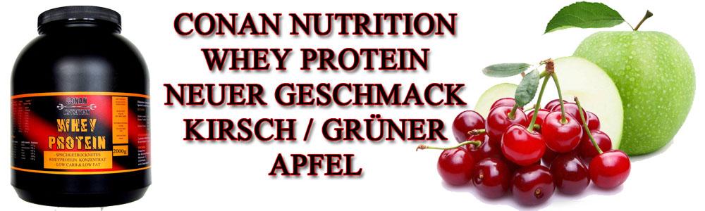 Kirsch Apfel Banner Whey Protein