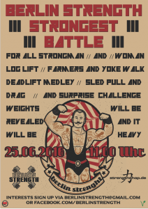 Berlin Strength Strongest Battle 2016