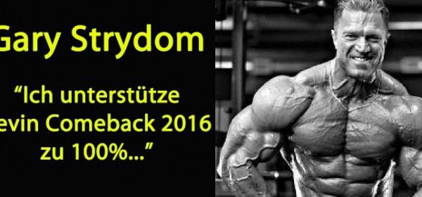 Gary Strydom über Kevin Levrone Comeback 2016