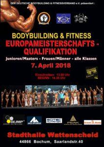 Bodybuilding und Fitness EM Quali 2018