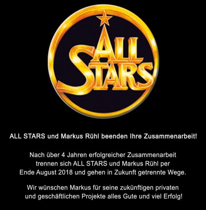 allstars trennt sich von Markus Rühl