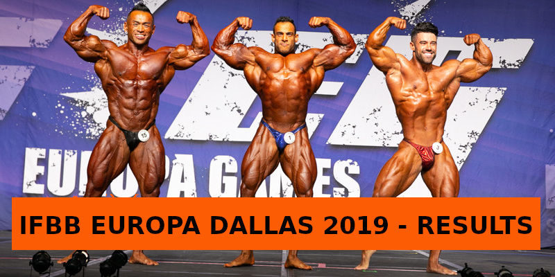 IFBB EUROPA DALLAS 2019 - RESULTS
