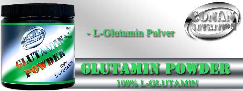 Conan Nutrition GLUTAMIN POWDER Banner