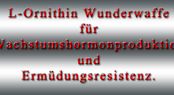 L-Ornithin Wunderwaffe für Wachstumshormonproduktion und Ermüdungsresistenz.