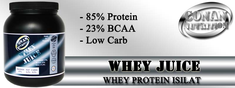 Conan Nutrition WHEY JUICE Banner