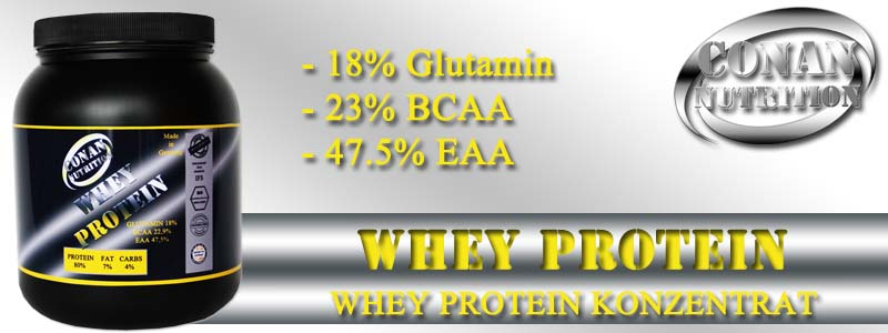 Conan Nutrition WHEY PROTEIN Banner