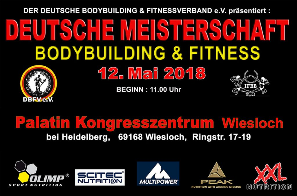 Deutsche Meisterschaft 2018 - BODYBUILDING XXL