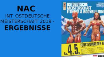 NAC INT. OSTDEUTSCHE MEISTERSCHAFT 2019 - ERGEBNISSE