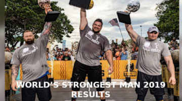 WORLD'S STRONGEST MAN 2019