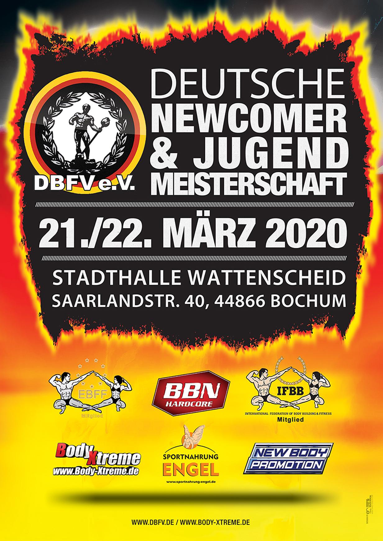 DEUTSCHE NEWCOMER- UND JUGEND- MEISTERSCHAFT 2020